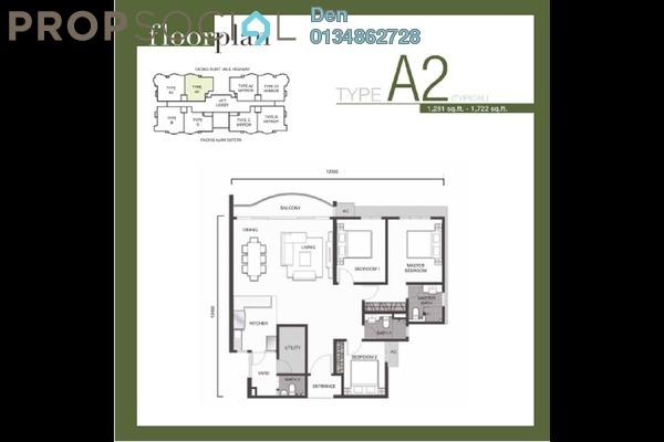 For Sale Apartment at Denai Sutera, Bukit Jalil Freehold Unfurnished 3R/3B 641k