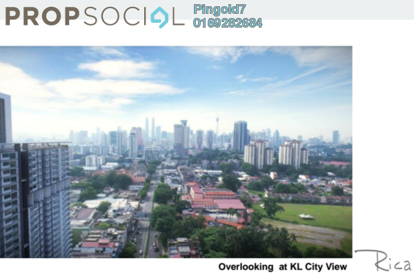 For Sale Condominium at Rica Residence, Sentul Freehold Unfurnished 3R/2B 584k