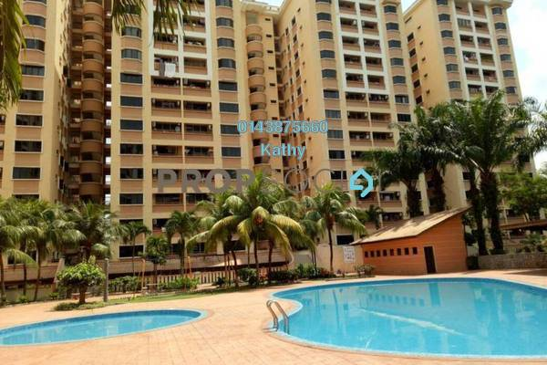 For Rent Condominium at Putra Villa, Gombak Freehold Semi Furnished 3R/2B 1.7k