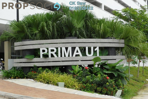 For Rent Condominium at Prima U1, Shah Alam Freehold Fully Furnished 3R/2B 1.8k