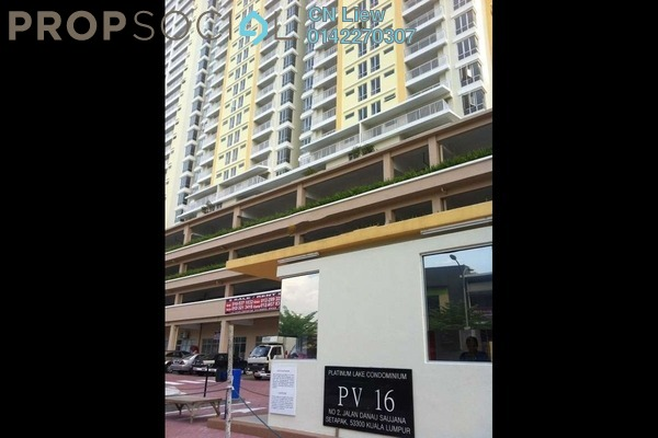 For Sale Condominium at Platinum Lake PV16, Setapak Freehold Fully Furnished 3R/2B 555k