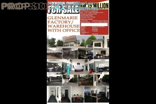 For Sale Factory at Temasya Industrial Park, Temasya Glenmarie Freehold Semi Furnished 0R/0B 15m
