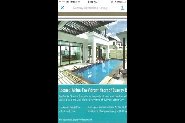 For Rent Villa at BayRocks, Bandar Sunway Leasehold Fully Furnished 4R/5B 15k