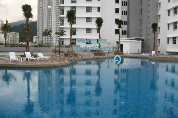 For Rent Condominium at The Peak Residences, Tanjung Tokong Freehold Semi Furnished 3R/2B 1.45k