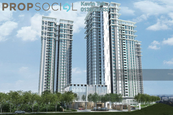 For Sale Condominium at Pavilion Hilltop, Mont Kiara Freehold Semi Furnished 3R/4B 2.16m