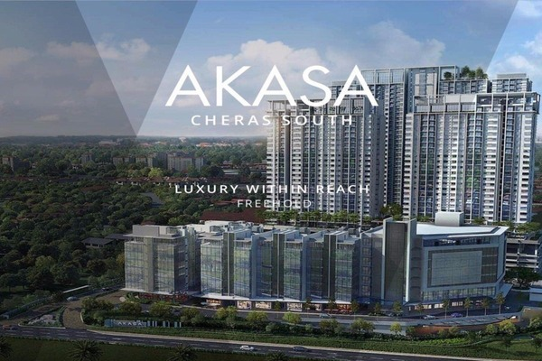 For Sale Serviced Residence at Akasa, Balakong Freehold Semi Furnished 3R/2B 470k