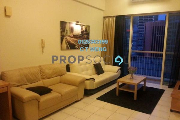 For Rent Condominium at Seri Bukit Ceylon, Bukit Ceylon Freehold Fully Furnished 1R/2B 2.2k