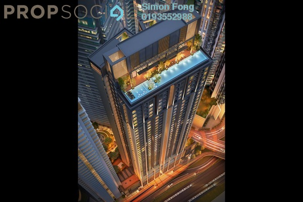 For Sale Condominium at ViiA Residences @ KL Eco City, Mid Valley City Freehold Semi Furnished 1R/1B 1.25m