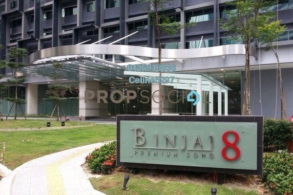 For Rent Condominium at Binjai 8, KLCC Freehold Semi Furnished 1R/1B 3.3k