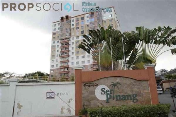 For Rent Apartment at Seri Pinang Apartment, Seri Kembangan Freehold Fully Furnished 3R/2B 1.1k