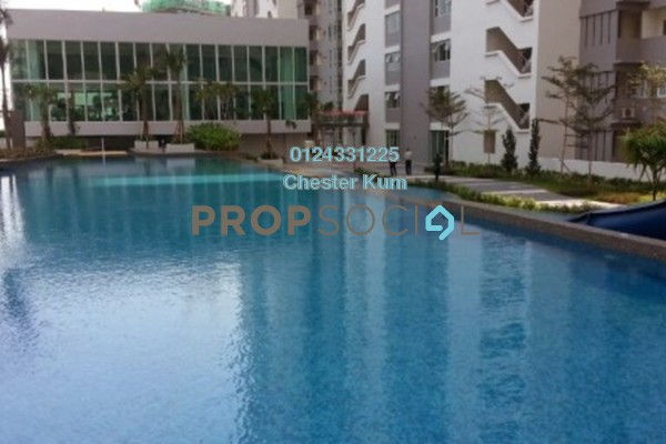 For Rent Condominium at The Peak Residences, Tanjung Tokong Freehold Semi Furnished 3R/2B 1.5k
