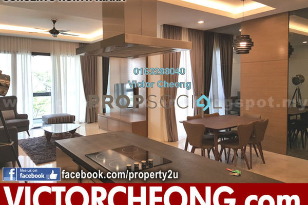 For Sale Condominium at Concerto Kiara, Dutamas Freehold Semi Furnished 3R/3B 1.2m
