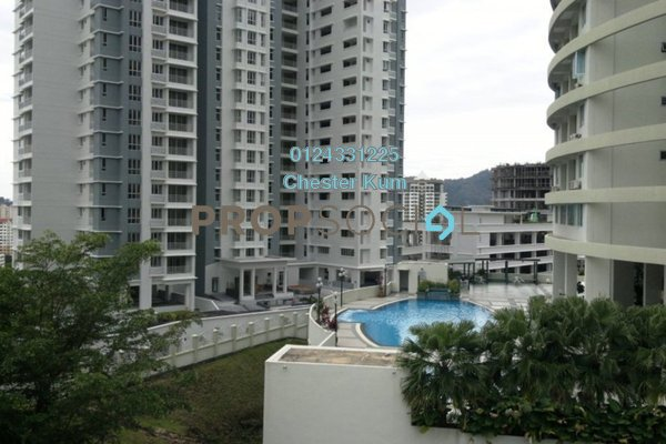 For Rent Condominium at Twin Towers, Tanjung Bungah Freehold Fully Furnished 3R/2B 2k