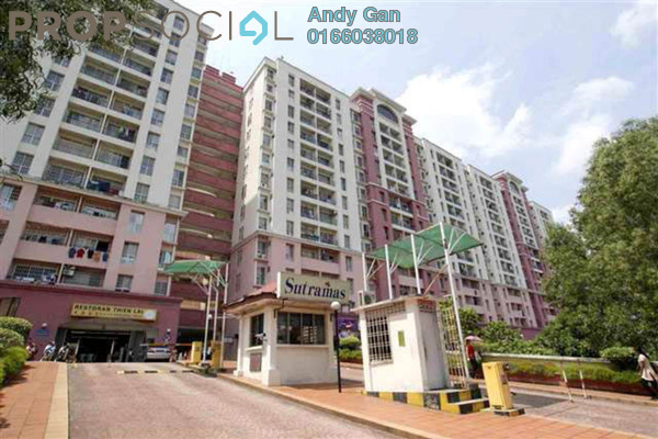 For Rent Condominium at Sutramas, Bandar Puchong Jaya Freehold Semi Furnished 3R/2B 1.2k