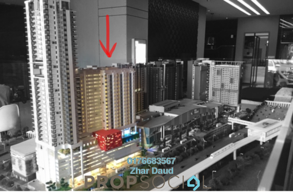 For Rent Condominium at Cube @ One South, Seri Kembangan Freehold Fully Furnished 1R/1B 1.5k