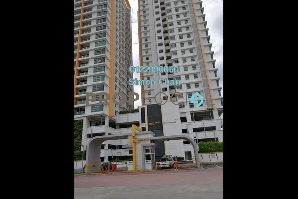 For Sale Serviced Residence at The Zest, Bandar Kinrara Freehold Semi Furnished 3R/2B 570.0千