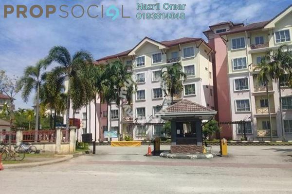 For Sale Apartment at Seroja Apartment, Bukit Jelutong Freehold Semi Furnished 3R/2B 295k