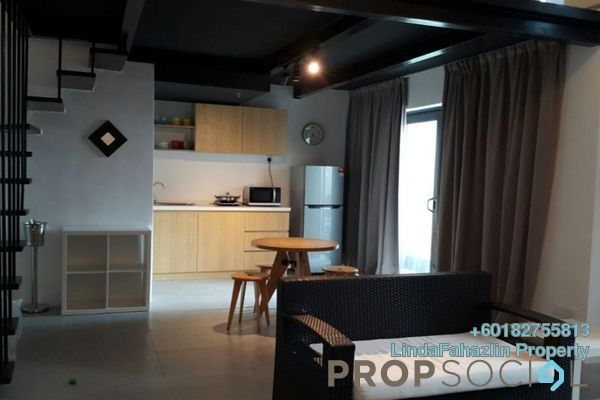 For Rent Duplex at Empire City, Damansara Perdana Freehold Semi Furnished 1R/2B 1.2k