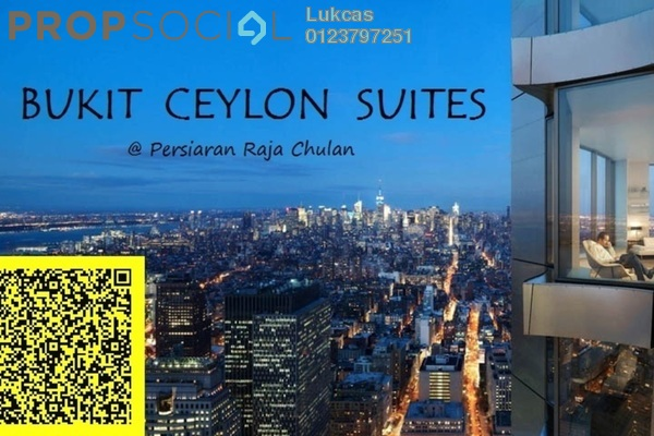 For Sale Serviced Residence at One @ Bukit Ceylon, Bukit Ceylon Leasehold Semi Furnished 2R/2B 840k