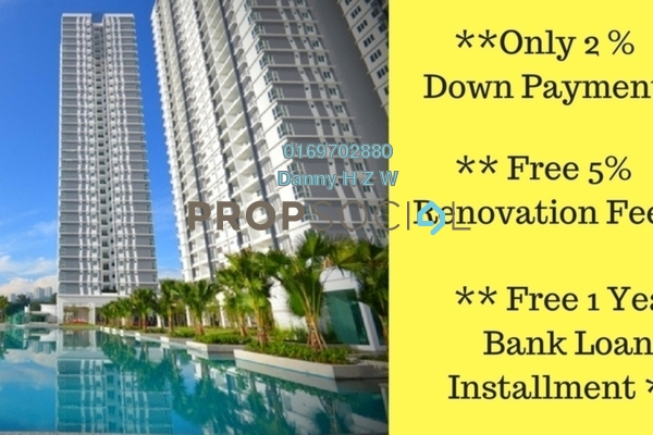 For Sale Condominium at Scenaria, Segambut Freehold Unfurnished 3R/3B 592k