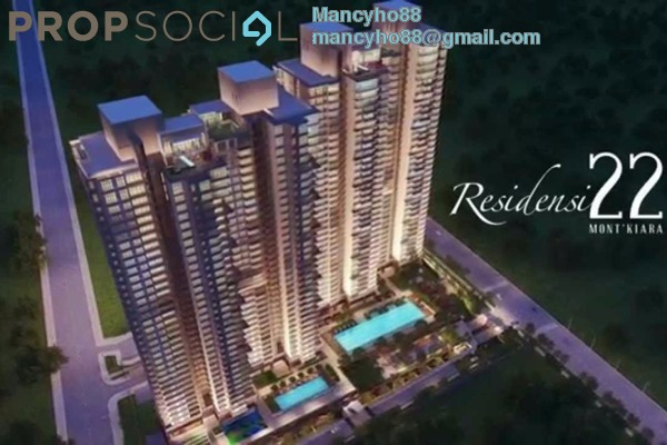 For Sale Condominium at Residensi 22, Mont Kiara Freehold Semi Furnished 4R/4B 1.66m