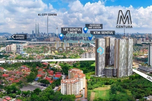For Sale Condominium at M Centura, Sentul Freehold Unfurnished 2R/1B 328k