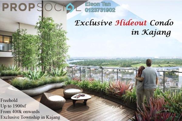 For Sale Condominium at Oasis 1 @ Mutiara Heights, Kajang Freehold Semi Furnished 3R/2B 480k