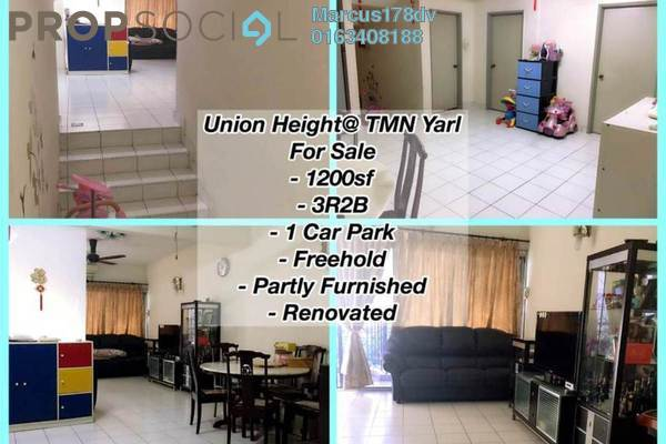 For Sale Terrace at Union Heights, Old Klang Road Freehold Semi Furnished 3R/2B 545k
