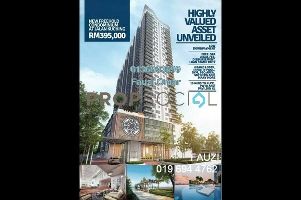 For Sale Condominium at Tuan Residency, Jalan Ipoh Freehold Unfurnished 3R/2B 395k