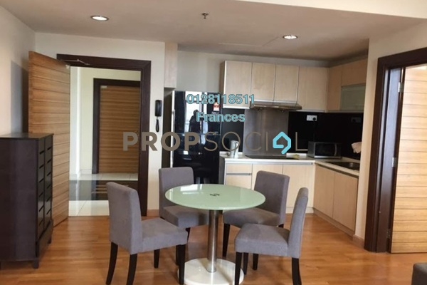 For Sale Serviced Residence at Dua Sentral, Brickfields Freehold Semi Furnished 2R/2B 986k