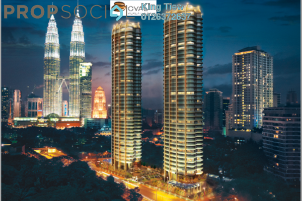 For Sale Condominium at The Oval, KLCC Freehold Semi Furnished 3R/3B 3.84m