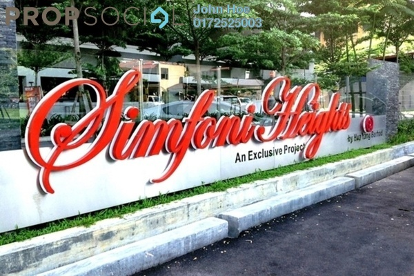 For Rent Condominium at Symphony Heights, Selayang Freehold Fully Furnished 3R/2B 1.6k
