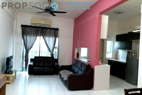 For Rent Condominium at First Residence, Kepong Freehold Fully Furnished 3R/2B 1.6k