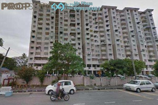 For Sale Apartment at Widuri Apartment, Butterworth Freehold Semi Furnished 3R/2B 188k