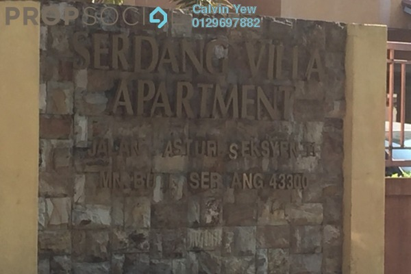 For Rent Apartment at Serdang Villa Apartment, Seri Kembangan Freehold Fully Furnished 3R/2B 900translationmissing:en.pricing.unit