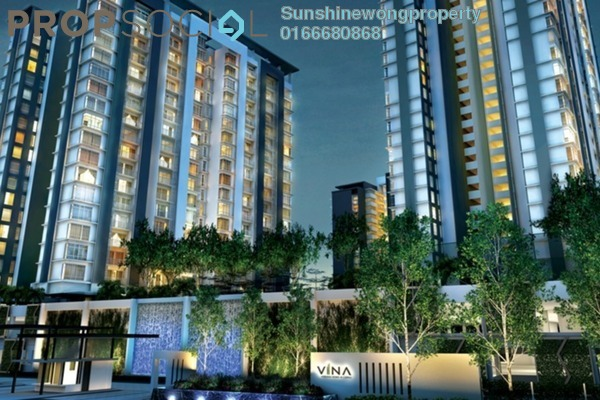 For Rent Condominium at Vina Versatile Homes, Cheras South Freehold Semi Furnished 3R/2B 1.2k
