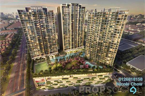 For Sale Serviced Residence at Greenfield Residence, Bandar Sunway Leasehold Semi Furnished 2R/1B 390k
