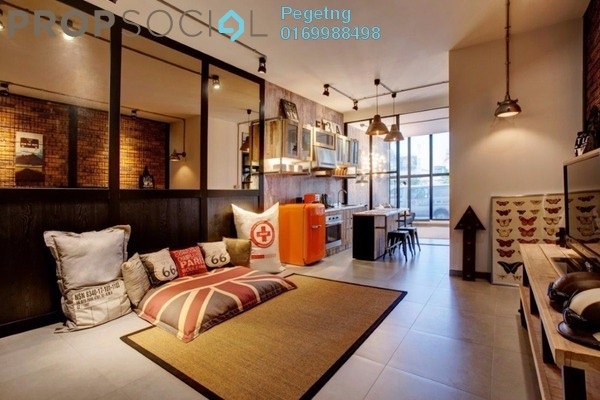 For Sale Condominium at Flexus Signature Suites, Segambut Freehold Semi Furnished 2R/1B 380k