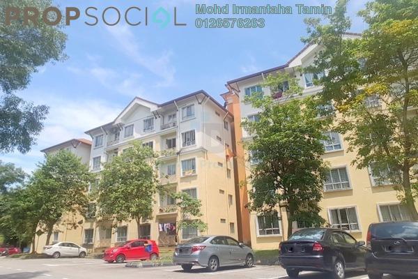 For Sale Apartment at Seroja Apartment, Bukit Jelutong Freehold Semi Furnished 3R/2B 310k