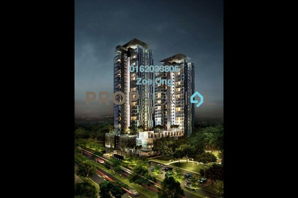 For Sale Condominium at Duet Residence, Bandar Kinrara Freehold Unfurnished 3R/2B 640k