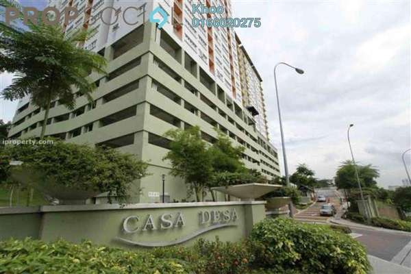 For Sale Condominium at Casa Desa, Taman Desa Freehold Semi Furnished 3R/2B 650k