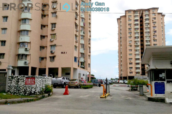 For Rent Apartment at Desa Dua, Kepong Freehold Semi Furnished 3R/2B 1.25k