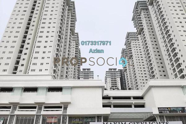 For Sale Condominium at Maxim Citilights, Sentul Freehold Semi Furnished 3R/2B 490k