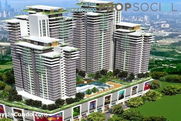 For Sale Serviced Residence at Majestic Maxim, Cheras Leasehold Unfurnished 2R/2B 293k