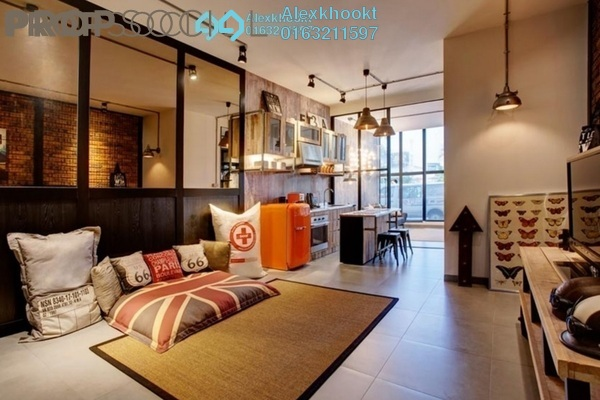 For Rent SoHo/Studio at Flexus Signature Suites, Segambut Freehold Semi Furnished 1R/1B 1.8k