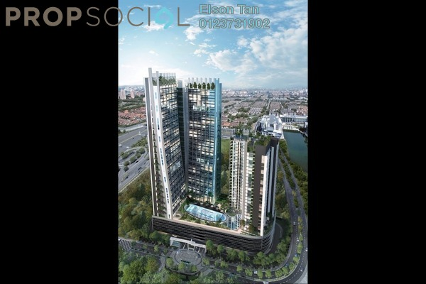 For Sale Condominium at The Edge Residen, Subang Jaya Leasehold Semi Furnished 2R/2B 500k
