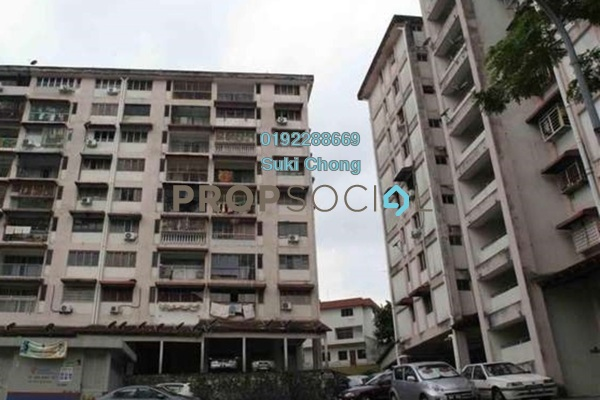 For Sale Apartment at Segar Apartments, Cheras Freehold Unfurnished 3R/2B 295k