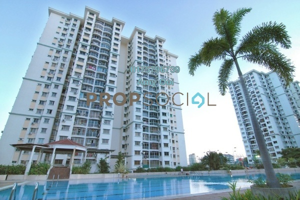 For Sale Apartment at Taman Kristal, Tanjung Tokong Freehold Semi Furnished 3R/2B 430k