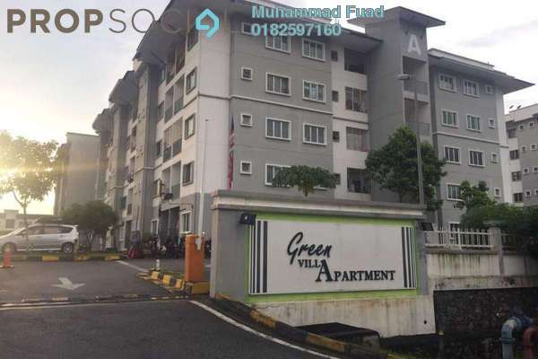 For Sale Apartment at Green Villa Apartment, Kajang Freehold Semi Furnished 3R/2B 290k
