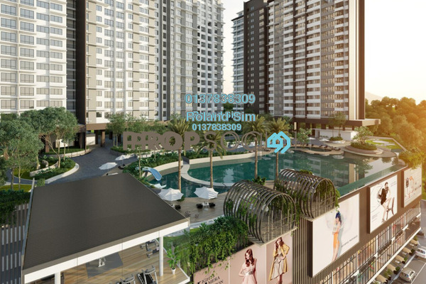 For Sale Condominium at Kiara Plaza, Semenyih Freehold Semi Furnished 3R/2B 267k